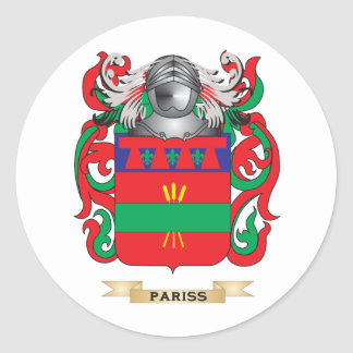 Pariss Coat of Arms (Family Crest) Round Sticker