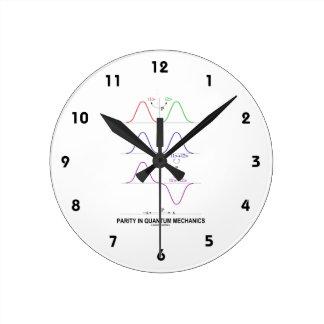 Parity In Quantum Mechanics Round Clock