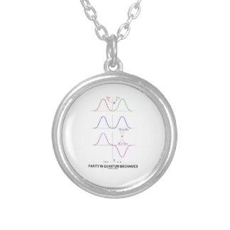Parity In Quantum Mechanics Silver Plated Necklace