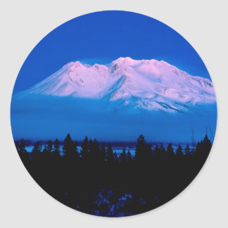 Park Above The Clouds Mt Shasta California Classic Round Sticker
