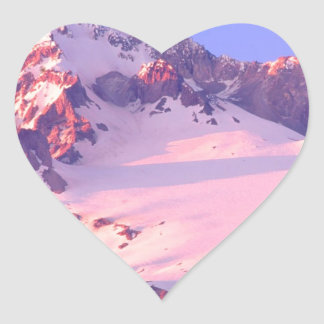 Park Alpenglow On Theof Hood Oregon Heart Sticker