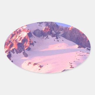 Park Alpenglow On Theof Hood Oregon Oval Sticker