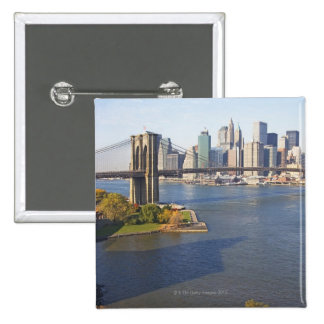 Park and Cityscape Pinback Button