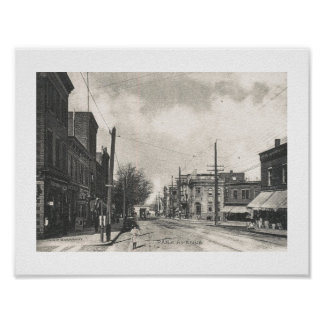 Park Ave., Rutherford, New Jersey Vintage Poster