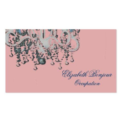Park Avenue Chandelier ~ Business Card Chic