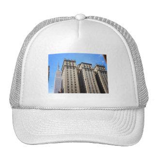 Park Avenue Skyscraper and Birds, New York City Trucker Hats