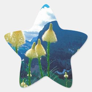 Park Beargrass Grinnell Lake Glacier Montana Star Sticker