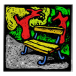 Park Bench 1 Posters