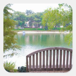 Park Bench 2 Square Sticker