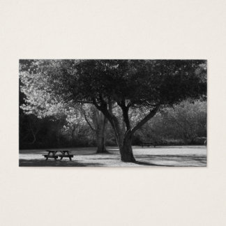 Park Bench and Tree Photo Business Card
