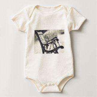 Park bench baby bodysuit