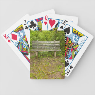 Park Bench Bicycle Playing Cards