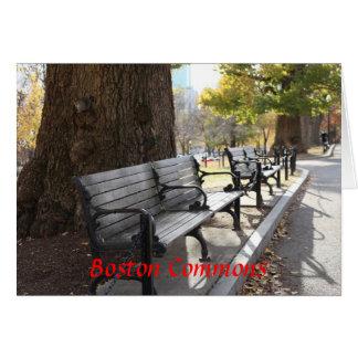 Park Bench, Boston Commons, Massachusetts Card