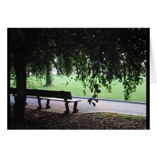 Park Bench Card