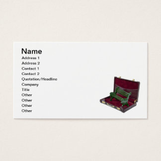 Park Bench in Briefcase Business Card