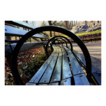 Park Bench in Central Park, NYC Poster