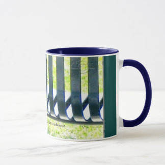 Park Bench in Light Coffee/Tea Mug by Gretchen