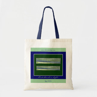 Park Bench in Light Tote Bag by gretchen