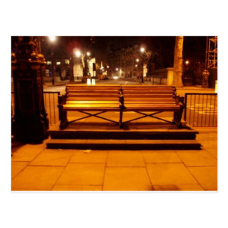Park Bench in London Postcard