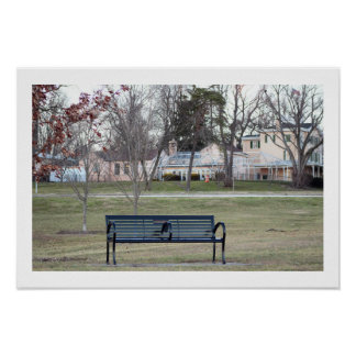 Park Bench Photo Poster