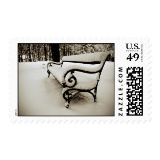 Park bench stamp