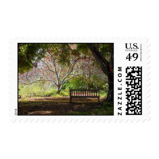 Park bench postage