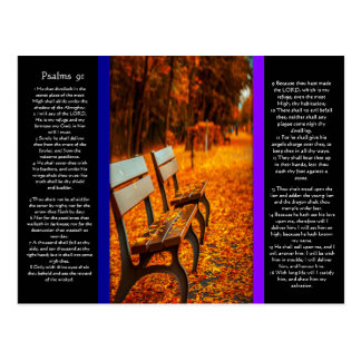 Park Benches With Psalms chapter 91 Postcard