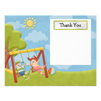 Park Birthday Party Thank You Card Personalized Announcement