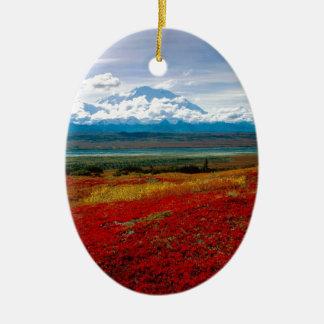 Park Brilliant Colors Of Denali Alaska Ceramic Ornament