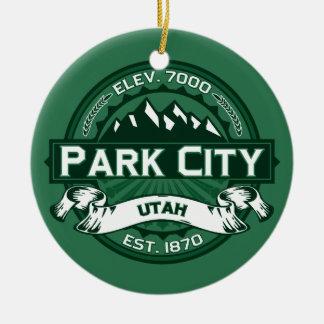 Park City Forest Ceramic Ornament