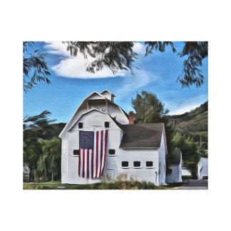 Park City Historic Barn Illustration by LH Canvas Print