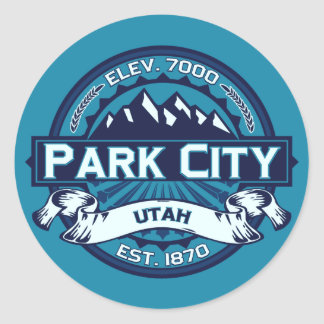 Park City Ice Classic Round Sticker