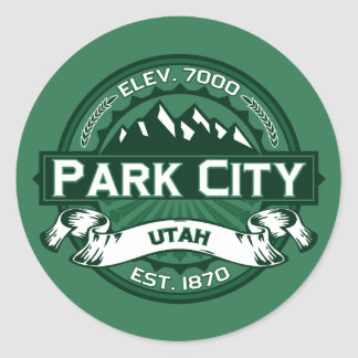 Park City Logo Forest Classic Round Sticker