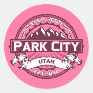 Park City Logo Honeysuckle Classic Round Sticker