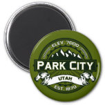 Park City Logo Olive 2 Inch Round Magnet
