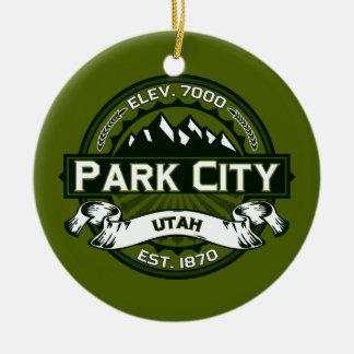 Park City Logo Olive Ceramic Ornament