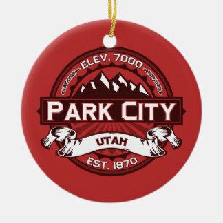 Park City Logo Red Ceramic Ornament