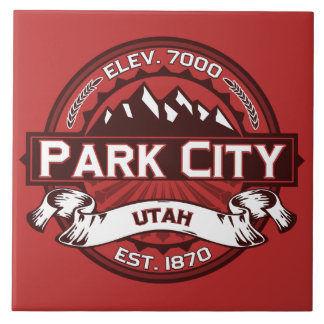 Park City Logo Red Ceramic Tile