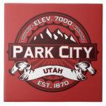 Park City Logo Red Large Square Tile