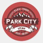 Park City Logo Red Round Sticker