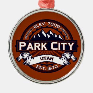 Park City Logo Vibrant Metal Ornament