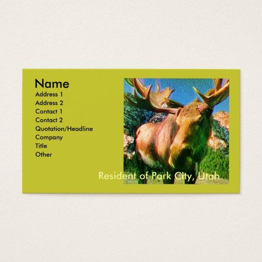 Park City Moose Business Cards