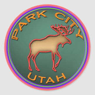 Park City Moose Medallion Sticker