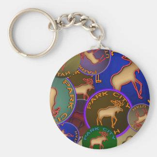 Park City Moose Medallions Key Chain