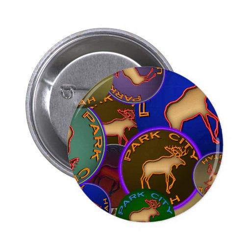 Park City Moose Medallions Pinback Buttons