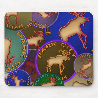 Park City Moose Medallions Souvenir Gifts Mouse Pad