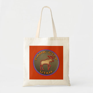 Park City Moose Medallions Souvenir Gifts Tote Bag