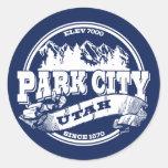 Park City Old Circle Blue Classic Round Sticker