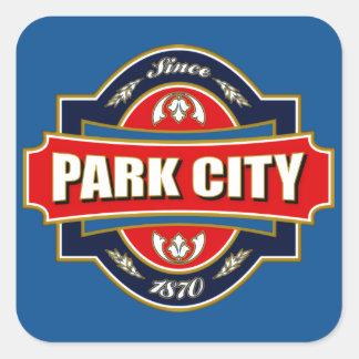 Park City Old Label Square Sticker
