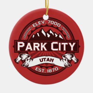 Park City Red Ceramic Ornament
